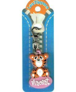 Porte-clés Zipper prénom VINCENT- 6.5x3 cm env