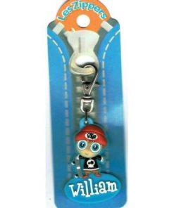 Porte-clés Zipper prénom WILLIAM - 6.5x3 cm env