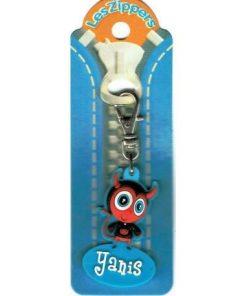Porte-clés Zipper prénom YANIS - 6.5x3 cm env