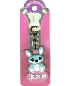 Porte-clés Zipper prénom YASMINE- 6.5x3 cm env
