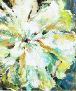 Toile - Fleur abstrait pastel - 70x70 cm