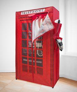 Cette armoire sera parfaite pour séduire des fans du style londonien ! Voilà de quoi ranger vos vêtements avec classe ! Pas besoin d'outils pour assembler cette armoire London.
