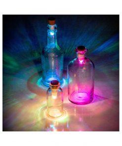 Bouchon Lumineux LED multicoloreTransformez vos bouteilles vides en lampes Rechargeable via sa prise USB intégrée3 heures d'autonomie