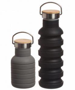 Bouteille rétractableBouchon en métal et boisContenance : 550 ml4 couleurs au choixHermétique et étanche