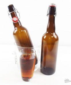 12 bouteilles en verreFermeture mécaniqueVerre teinté marron750 ml