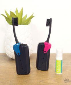 Ranger votre brosse à dent partoutTenez la loin de la poussière Dentifrice inclus2 couleurs au choix