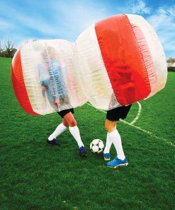 Découvrez une nouvelle façon originale et fun de jouer au football ! Éclatez-vous sans danger dans une bulle rebondissante humaine !