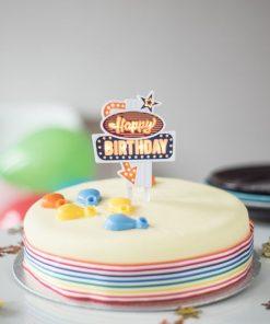 Décorez vos gâteauxPour des anniversaires plus funPiles inclusesRéutilisable