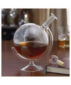 Donnez un style authentique à vos alcoolsPour des dégustations originalesParcourez le monde à travers le globe terrestreAccessoire de dégustation entièrement en verre