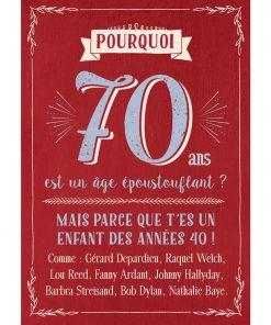 Pour souhaitez un joyeux anniversaire à tous ceux qui fêteront leur 70 ans !