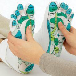 Une paire de chaussettes de réflexologie