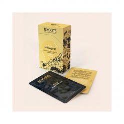 Profitez de ce coffret huile de massage romantique en unidoses seule ou en couple