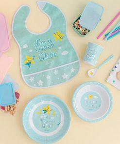 Vaisselle mignonne et pratiqueCouleurs doucesIdéal pour les jeunes enfants