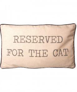 Coussin spécial chatDécoration félineRéservé pour le minetBeige et noir
