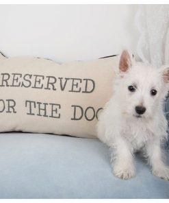 Coussin spécial chienDécoration canineRéservé pour le toutouBeige et noir