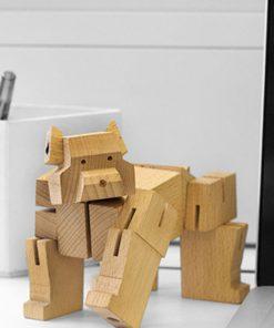 Puzzle en boisCréation du designer David Weeks StudioAccessoire de décoration contemporain et designSe transforme en ours