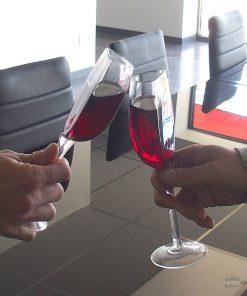 Cette moitié de verre très originale vous permettra de boire avec modération lors de vos soirées.
