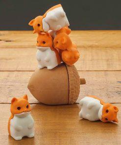 Ces 7 Gommes écureuil seront parfaites pour corriger toutes vos erreurs et dépassements au crayon !