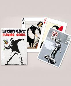 54 cartes format traditionnelIllustrations du célèbre street artiste BanksyPour les amoureux d'art