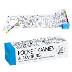 Déroulez ce jeu de poche cosmos à colorier et découvrez ces centaines de dessins sur le thème de l'espace. Avec le stylo à 8 mines de couleurs inclus