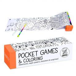 Emportez avec vous ce jeu de poche fantastic à colorier et occupez votre enfant de manière créative. Le crayon aux 8 couleurs fourni lui permettra de commencer tout de suite ...
