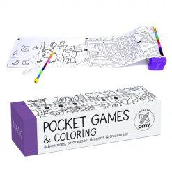 Evadez-vous grâce à ce jeu de poche magic à colorier. 1 mètre de papier à dérouler et des centaines de dessins à mettre en couleurs grâce au crayon de couleurs à 8 mines !