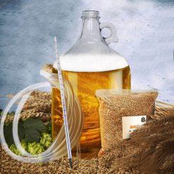 Ce kit vous permettra de préparer votre propre bière blonde. Tous les ingrédients et le matériel sont inclus dans le coffret.