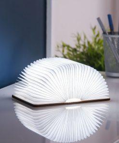 Ce petit livre lumineux effet bois saura vous transporter avec sa douce lumière ! Ouvrez-le pour qu'il s'allume.