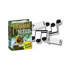 Ce livret de blocs-notes musique autocollant contient 4 blocs-notes différents sur le thème de la musique