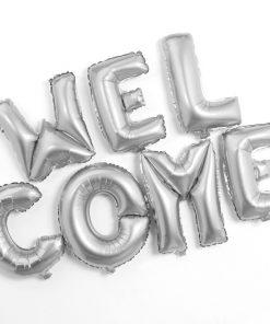 """Ce message gonflable """"WELCOME"""" qui veut dire """"BIENVENUE"""" en français sera parfait pour souhaiter la bienvenue dignement à vos invités ! Parfait pour une fête d'anniversaire"""