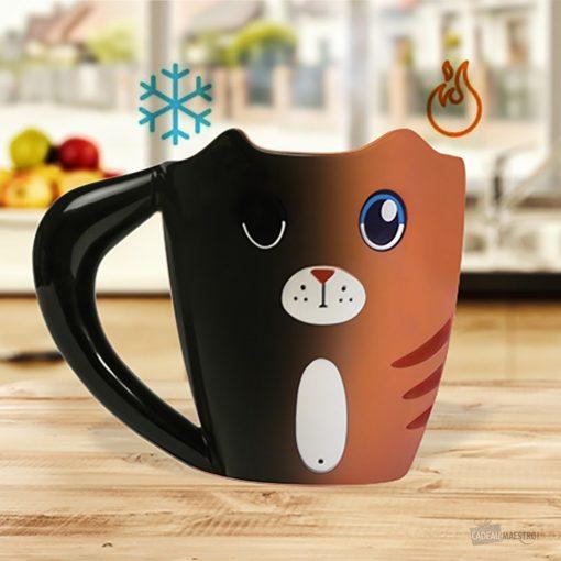Réagit à la chaleurLe chat se réveilleIdéal pour vous petits-déjeunersPour des pauses plus fun