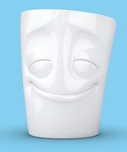 Gardez le sourire avec ce mug happy qui affiche un visage toujours souriant !