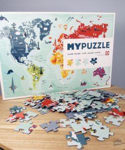 Offrez une carte du monde originale en puzzle !260 pièces à assembler !Redécouvrez le monde pièce par pièce ! Carte colorée et illustrée