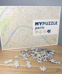 Offrez une carte de Paris en puzzle !1000 pièces à assembler !Redécouvrez Paris pièce par pièce ! Carte colorée et illustrée