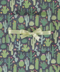 Papier fun et coloréRéalisez un beau paquetDes cactus en fleur