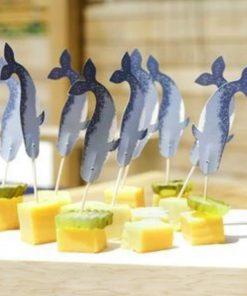 24 piques à tapasCorne de narval transformée en cure-dentsAccessoire pour apéritif  et dégustations de crustacés