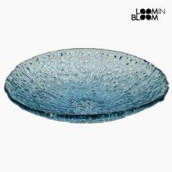 Pièce centrale en verre recyclé Bleu (42 x 42 x 11 cm) by Loom In Bloom