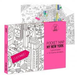 N'oubliez pas de prendre avec vous ce plan de poche New York à colorier avant de vous envoler outre atlantique. Le coloriage sera pour l'avion et la personnalisation du plan