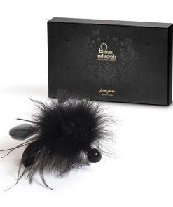 Pom Pom Chatouilleur en Plume Bijoux Indiscrets 32 Noir