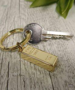 Ce lingot d'or sera parfait pour garder précieusement vos clés ! Voilà de quoi ne plus les perdre !