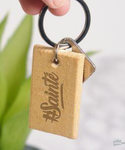 Accessoire fun et StéphanoisNe perdez plus vos clésGravure sur bois de hêtre
