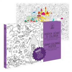 Ce poster géant à colorier Magic est fait pour tous les enfants rêveurs et bourrés d'imagination ! Quasiment 1 mètre carré de magie