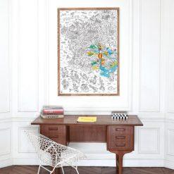 Amusez-vous à redécouvrir la France avec ce poster géant Régions à colorier. Des dessins rigolos pour mettre en couleur tous les départements