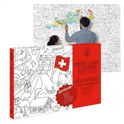 Partez à la découverte du pays helvète avec ce poster géant Suisse à colorier... 1