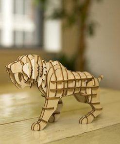 Fabriquez votre propre tigre en bois. Emboîtez simplement les pièces.