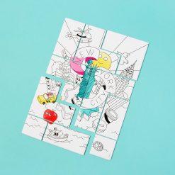 Coloriez votre puzzle et construisez leDécorez votre intérieur une fois terminéRetrouvez les icônes de la Big AppleFabriqué en France