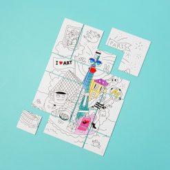 Coloriez votre puzzle et construisez leDécorez votre intérieur une fois terminéRetrouver les icônes de la Big AppleFabriqué en France