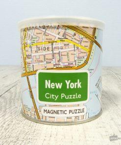 Découvrez ce fabuleux plan de l'incroyable ville de New York grâce à ce puzzle ! 100 pièces pour apprendre les monuments