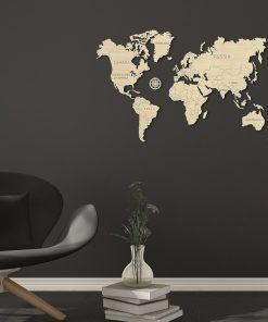 Cette carte du monde sera parfaite pour un proche qui adore voyager et découvrir le monde qui nous entoure. Voilà de quoi décorer sa pièce avec un joli puzzle à assembler et à coller sur un mur ! Il ne lui restera plus qu'à la personnaliser.
