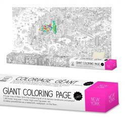 Une fois sorti ce rouleau de coloriage géant New York city de sa boite